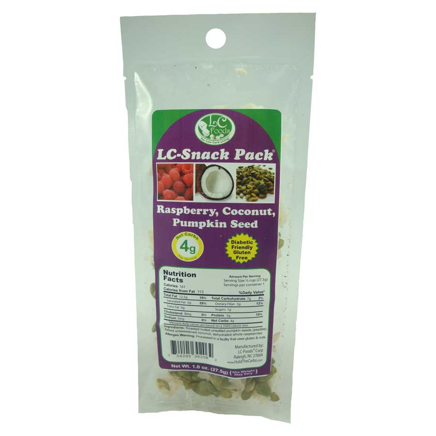 Raspberry Coconut Pumpkin Seed Snack Pack