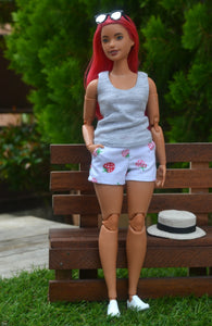 PDF Sewing Pattern - Tank Top for Curvy Made to Move Barbie Fashion Dolls