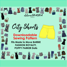 Load image into Gallery viewer, PDF Sewing Pattern - City Shorts for Made to Move Barbie Original Fashion Dolls