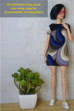 Load image into Gallery viewer, PDF Sewing Pattern - Shift Dress Fit for Barbie Made to Move Dolls