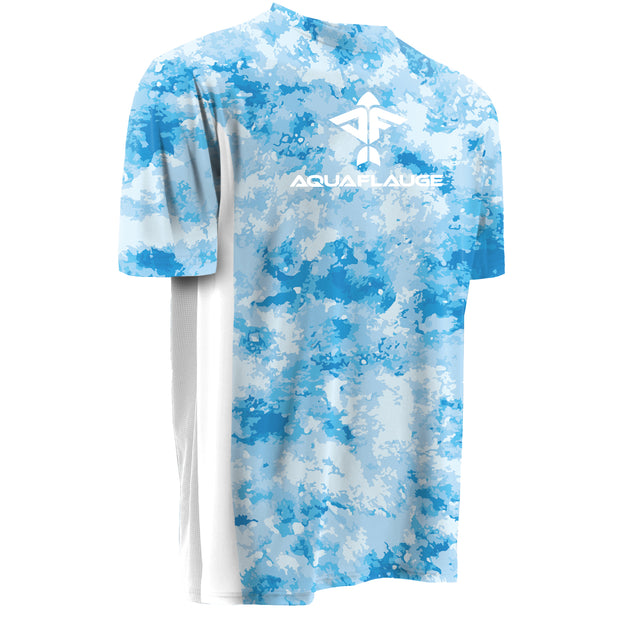 Clouds Men's Short Sleeve Performance Mesh Shirt