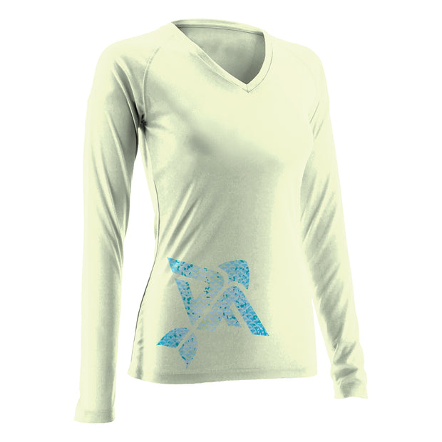 Pale Yellow Women's Long Sleeve V-Neck