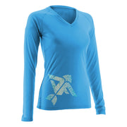 Columbia Blue Women's Long Sleeve V-Neck