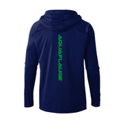 Thermal Mesh Hoodie Blue Cove