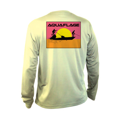Youth Performance Long Sleeve Endless Fishing Aquaflage Shirt