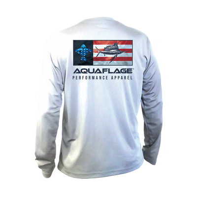 USA Sailfish Men's Long Sleeve Performance Shirt