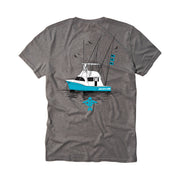 Boating Men's Short Sleeve Cool Grey T-Shirt