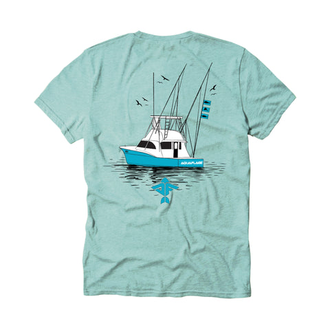 Boating Men's Short Sleeve Mint T-Shirt