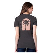 Island Plants Charcoal Heather Short Sleeve T-Shirt