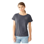Hibiscus Coal Short Sleeve T-Shirt