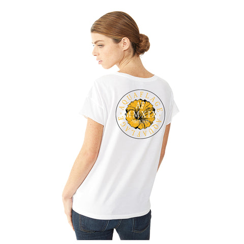 Hibiscus White Short Sleeve T-Shirt