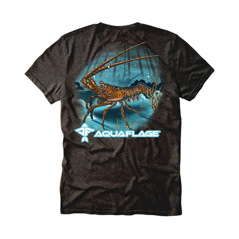 Lobster Men's Short Sleeve Black Graphite T-Shirt