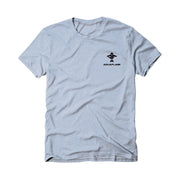The Fishing Master Men's Short Sleeve Light Blue Heather T-Shirt