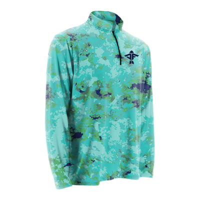 Aquacade Clouds Quarter Zip Jacket
