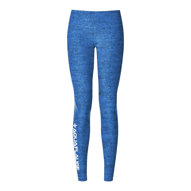 Blue Heathered Women's Yoga Pants
