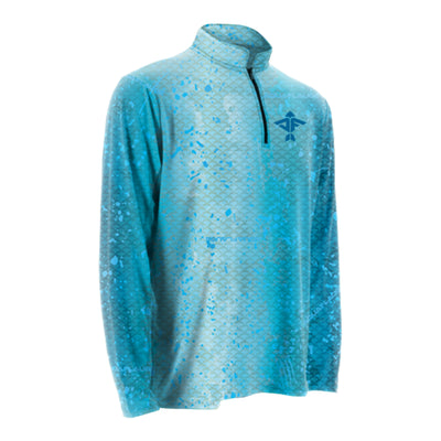 Blue Dorado Quarter Zip Jacket
