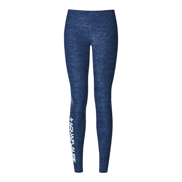 Navy Heathered Women's Yoga Pants