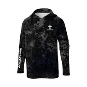 Omega Black Men's UPF 50 Sun Protection Performance Hoodie
