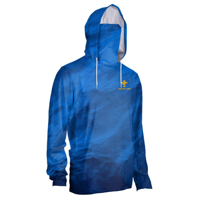 Men's Rubicon Shield Blue Storm Performance Hoodie With Mask