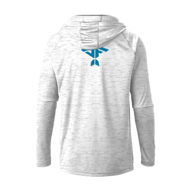 White Strom Men's UPF 30 Sun Protection Performance Hoodie - aquaflauge
