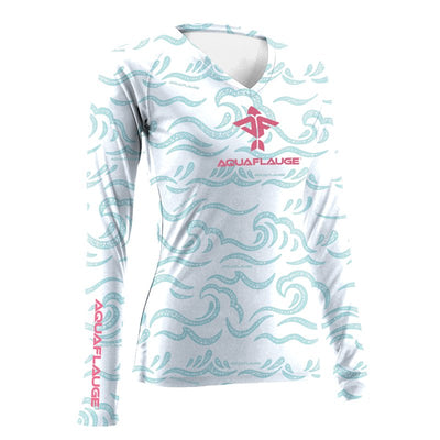 AquaFlauge Women's UPF 30 Sun Protection Long Sleeve Performance Shirt - aquaflauge