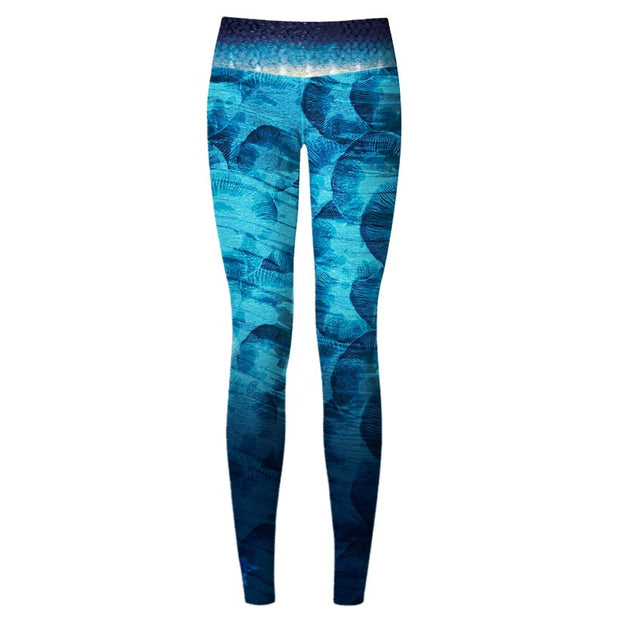 Blue Jellyfish Women's Yoga Pants - aquaflauge