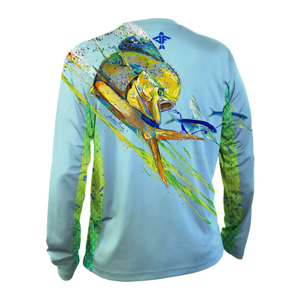 A. Musick Dorado Men's Long Sleeve Performance Shirt - aquaflauge