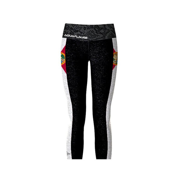 Florida Flag Women's Carpi Yoga Pants - aquaflauge
