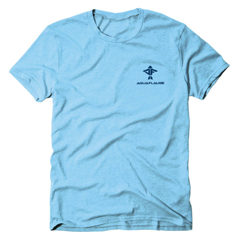 Fish Flag Short Sleeve T-Shirt - aquaflauge