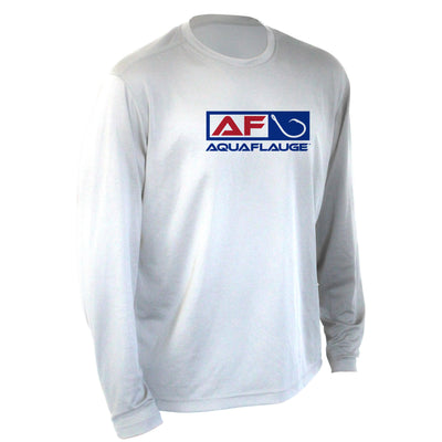 Youth Performance Long Sleeve Red White & Blue Shirt