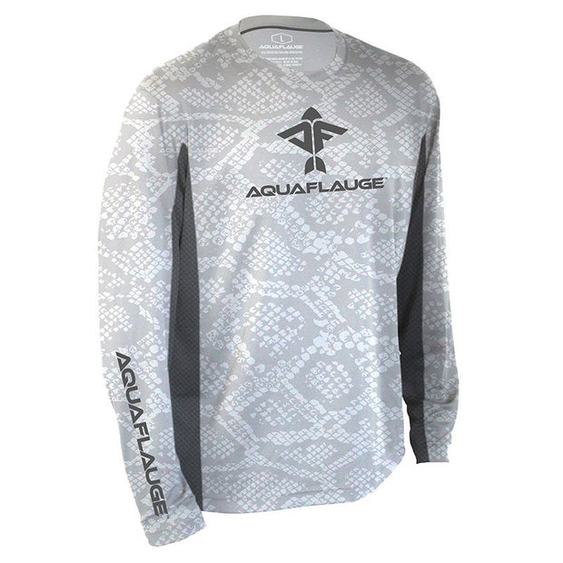 Ghost Grouper Men's Long Sleeve Performance Mesh Shirt - aquaflauge