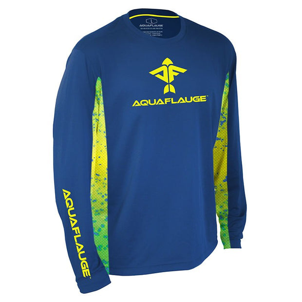Dorado Men's Long Sleeve Performance Mesh Shirt - aquaflauge