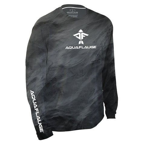 Storm Series Grey Men's Long Sleeve Performance Shirt - aquaflauge