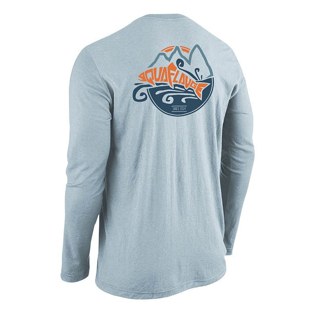 AquaFlauge Men's 50/50 Long Sleeve T-Shirt - aquaflauge