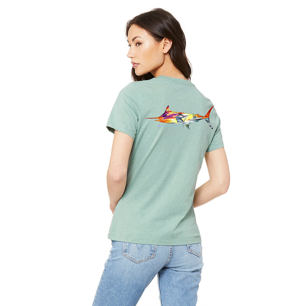 Sunset Marlin T-Shirt - aquaflauge