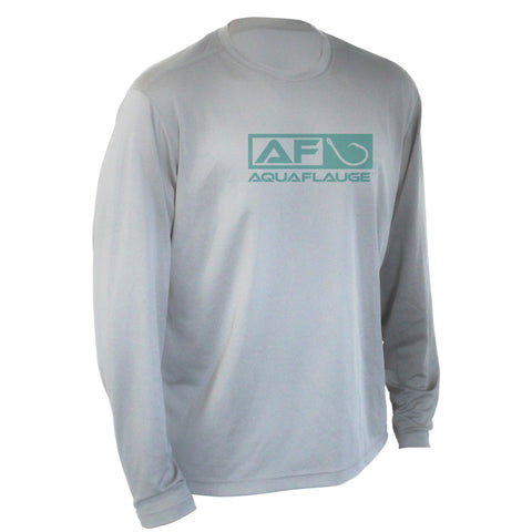 Youth Performance Long Sleeve Pearl Grey T-Shirt