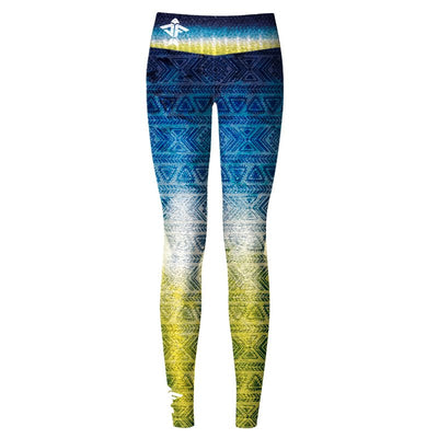 Tribal Tuna Women's Yoga Pants - aquaflauge