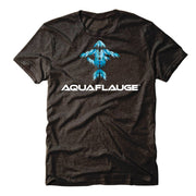 Black Swimming Tuna Men's Short Sleeve T-Shirt - aquaflauge