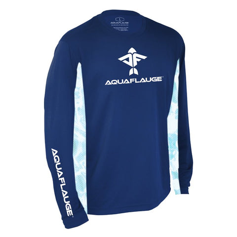 A. Musick Dream Team Men's Long Sleeve Performance Shirt - aquaflauge