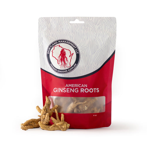 All Natural Pure American Whole Ginseng Roots 西洋参茶 (Non-GMO, Gluten Free Herb)