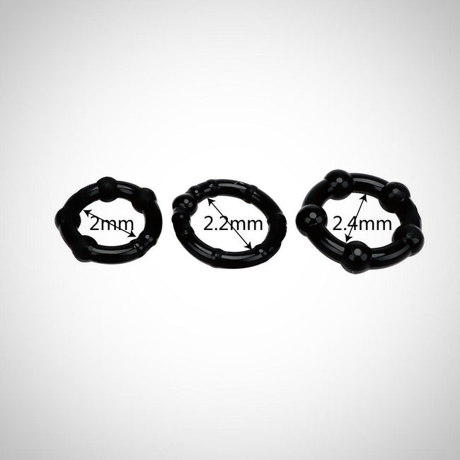 Lot de 3 Cockrings silicones