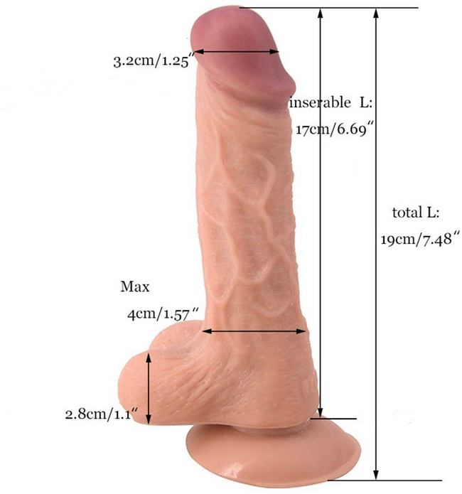 Gode 19cm Realistic