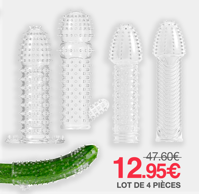 Pack 4 Gaines Penis Stimulation Anale Réutilisables