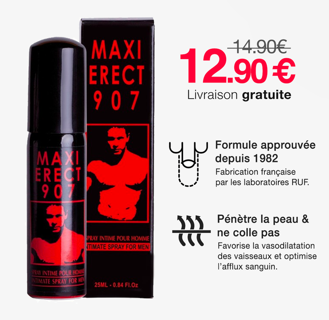 Spray Maxi Erect 907 - Érection plus forte & massive