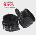 Menottes Poignets Plush Leather