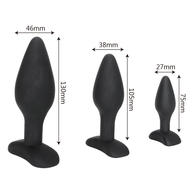 Anal Trainer Silicone - Coffret 3 Plugs