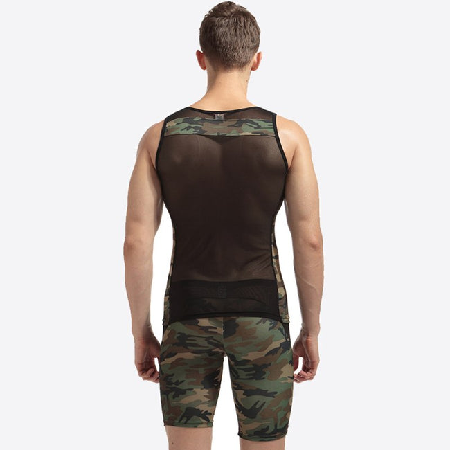 Ensemble Débardeur & Short Mesh Army