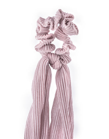 PS-10 Pink Pleated Ponyscarf