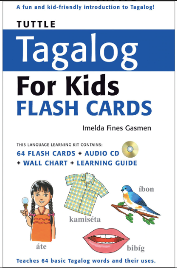 Tagalog For Kids Flash Cards