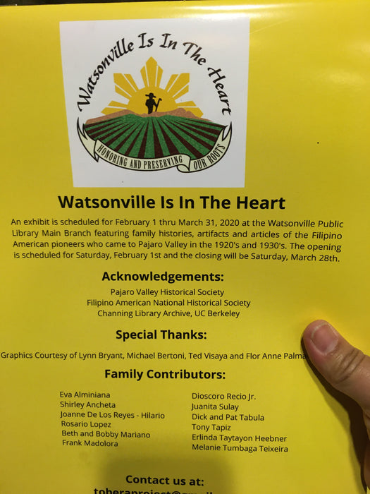 Watsonville  is in the Heart Calendar